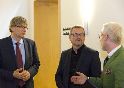 Bibliotheksdirektor Dr. Reinhard Laube, Kulturminister Benjamin-Immanuel Hoff